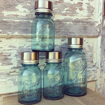 4 Mason Jar Solar Light Lid Set 4 Solar Jar Light Lids Mason Jar Solar Light Set Solar Light Lids Mason Jar Lantern Eco Lights