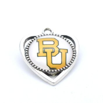 Baylor Bears: Women's Charm Pendant for Bracelet or Necklace