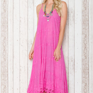 Angel Maxi Dress in Pink