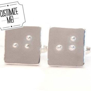 Custom Braille Cufflinks