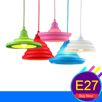 Modern DIY Indoor Lighting Fixtures Silicone Pendant Lamp Colorful Light Bulbs LED Droplight