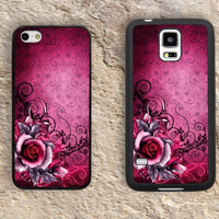 Rose iPhone Case-Pink Flowers iPhone 5/5S Case,iPhone 4/4S Case,iPhone 5c Cases,Iphone 6 case,iPhone 6 plus cases,Samsung Galaxy S3/S4/S5-117