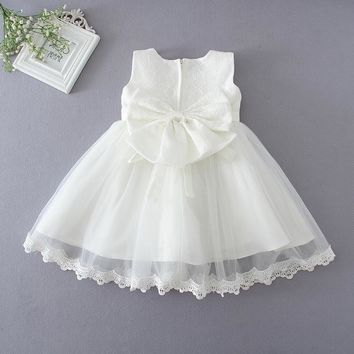 Sun Moon Kids Baby Girl Clothes Dresses Lolita Style Ball Gown Dress For Newborn White Costume For Kids Sleeveless Baby Dress