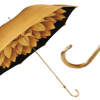 Pasotti Gold Dahlia Umbrella