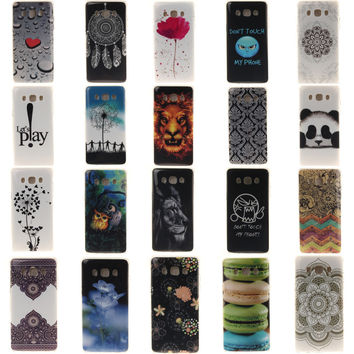 Panda Owl Lion Lace Flower Lotus Soft TPU Back Case Cover For Samsung Galaxy J3(2016) J310 J5(2016) J5108