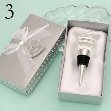 Heart Crystal Wine Bottle Stoppers