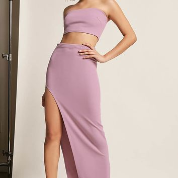Crop Tube Top & Maxi Skirt Set