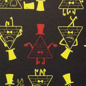 Gravity Falls Bill Cipher 8.5x11 Lined Perfect Bound Notebook - Glossy Finish - 50 Double Sided Pages - Journal, Diary, Book
