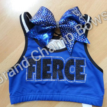 FIERCE Full Set Sports Bra Cheer Hair Bow by GrandChampBows