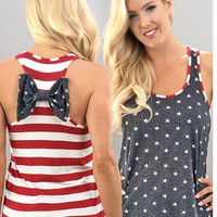 American Flag Tank with Bow
