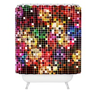 Belle13 Crazy Disco Shower Curtain