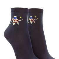 Astronaut Graphic Crew Socks