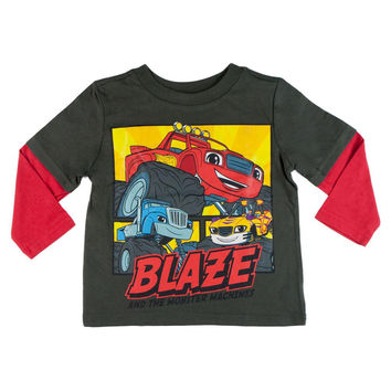 Blaze and the Monster Machines - Action Squares 2fer Toddler Long Sleeve T-Shirt