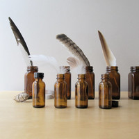 apothecary bottle collection vintage brown medicine bottles specimen jars