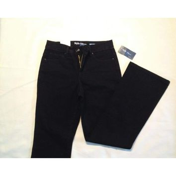 Style & co Petite Tummy Control Bootcut Jeans 60068  Black Tint 4PS 8PS 16PS
