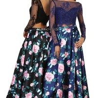 Floral prom dress & Fab party dress May queen 1511
