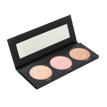 BEAUTY GLAZED Portable 3 Color Eyeshadow Palette Highlight Powder for Intense Luminosity Make Up Eye shadow Palette Waterproof