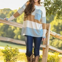 LOVE STITCH:Pocket Full of Sunshine Sweater-Toffee