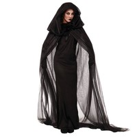 Halloween Purim Carnival Black Gothic Witch Costume Costumes for Women Adult Adulto Fantasia Long Dress Cosplay Clothing