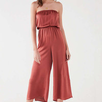 UO Satin Tube Top Culotte Jumpsuit | Urban Outfitters