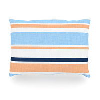 "Alison Coxon ""Jack Tar Pink"" Blue Orange Oblong Pillow"