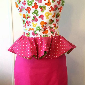Mermaid style - pinup-rockabilly- 50's housewife apron