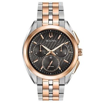 Bulova 98A160 Curv Chronograph Rose Two - Tone Stainless Steel Watch