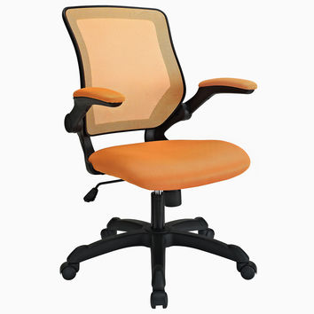 Veer Adjustable Mesh Back Fabric Seat Office Chair in Orange