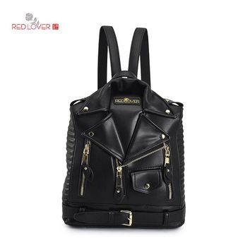 2017 New Backpack Women Bag PU Leather Backpack Fashion Personality Designed School Backpack Travel Bags A
