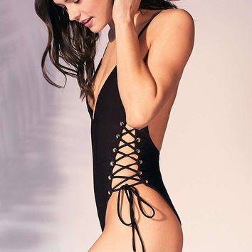 Blue Life Roped Up One-Piece Swimsuit - Urban Outfitters