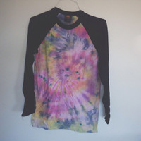 READY TO SHIP! Tie dye baseball shirt small