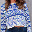 Royal Blue Crop Sweater