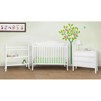 Babymod - Bella 4-in-1 Fixed Side Crib, Changing Table and Clothing Organizer, White: Furniture