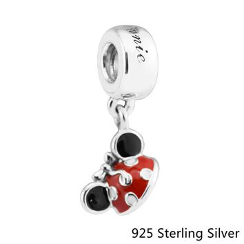 "Beads Fits Pandora Bracelets 925 Sterling Silver Jewelry Mouse ""Minnie Ear Hat"" Original Fashion Charms CKK"