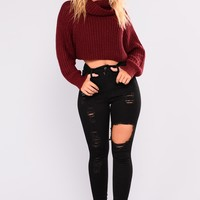 What's The Deal Ankle Jeans - Black