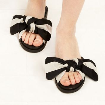 Miista Valerie Bow Slide Sandals