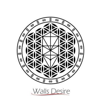 Tree OF Life, Sacred Geo, Decorated,flower of life, vinyl decal, J00098.