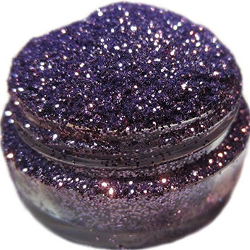 Lumikki Cosmetics Glitter Eye/Face/Lips/Nails Makeup - Light Lavendar Lilac Purple - HAPPILY EVER AFTER - Super Pigmented & Rich Color! - Cruelty Free - 5G Volume/2.5G Weight Jar