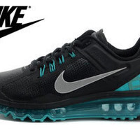 NFM009 - Nike Flyknit Max (Black/Light Blue)