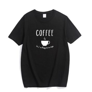 Coffee Definition Hug In A Cup T-Shirts - Men's Top Tee
