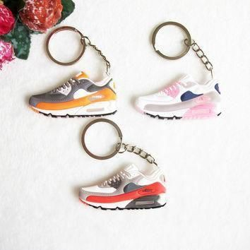 Mini Silicone Airer 90 Keychain Key Chain Jordan Shoes Sneaker Car Key Holder Woman Me
