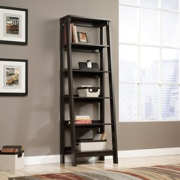 Sauder Trestle 5-Shelf Bookcase - Jamocha Wood - Bookcases at Hayneedle