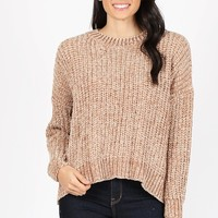 Define Comfort Sweater - Camel
