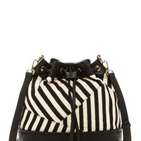 Contemporary Stripe Bucket Bag