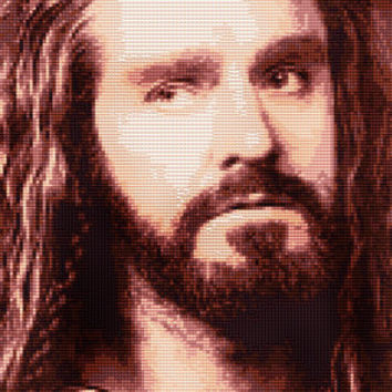 Thorin Oakenshield Portrait Cross Stitch Pattern