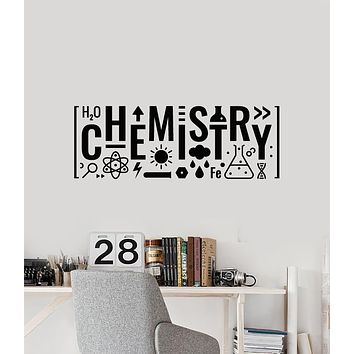 Vinyl Wall Decal Science Lettering Chemistry Teen Room Decor Stickers Mural (g1730)