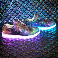 Light Up Galaxy Sneakers