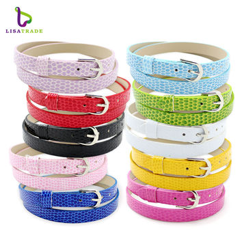 Hot Sale!!8mm snake PU leather Wristband Bracelet Fashion Accessory Fit for Slide Letters Charms High quality! LSBR031*10