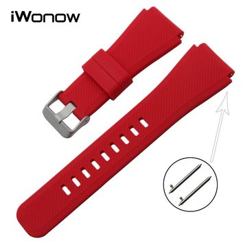 Quick Release Silicone Rubber Watchband 21mm 22mm for Tissot Longines Mido Omega Watch Band Wrist Strap Bracelet Multi Colors