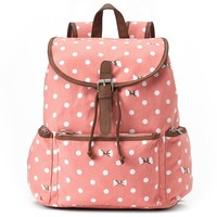 Candie's Nicole Polka-Dot & Bows Backpack (Pink)